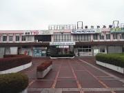 北上駅。ここでレンタカーで釜石まで。