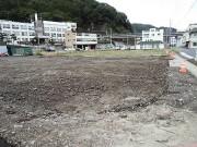 釜石の市役所近く、この街の市役所は健在のようだ。